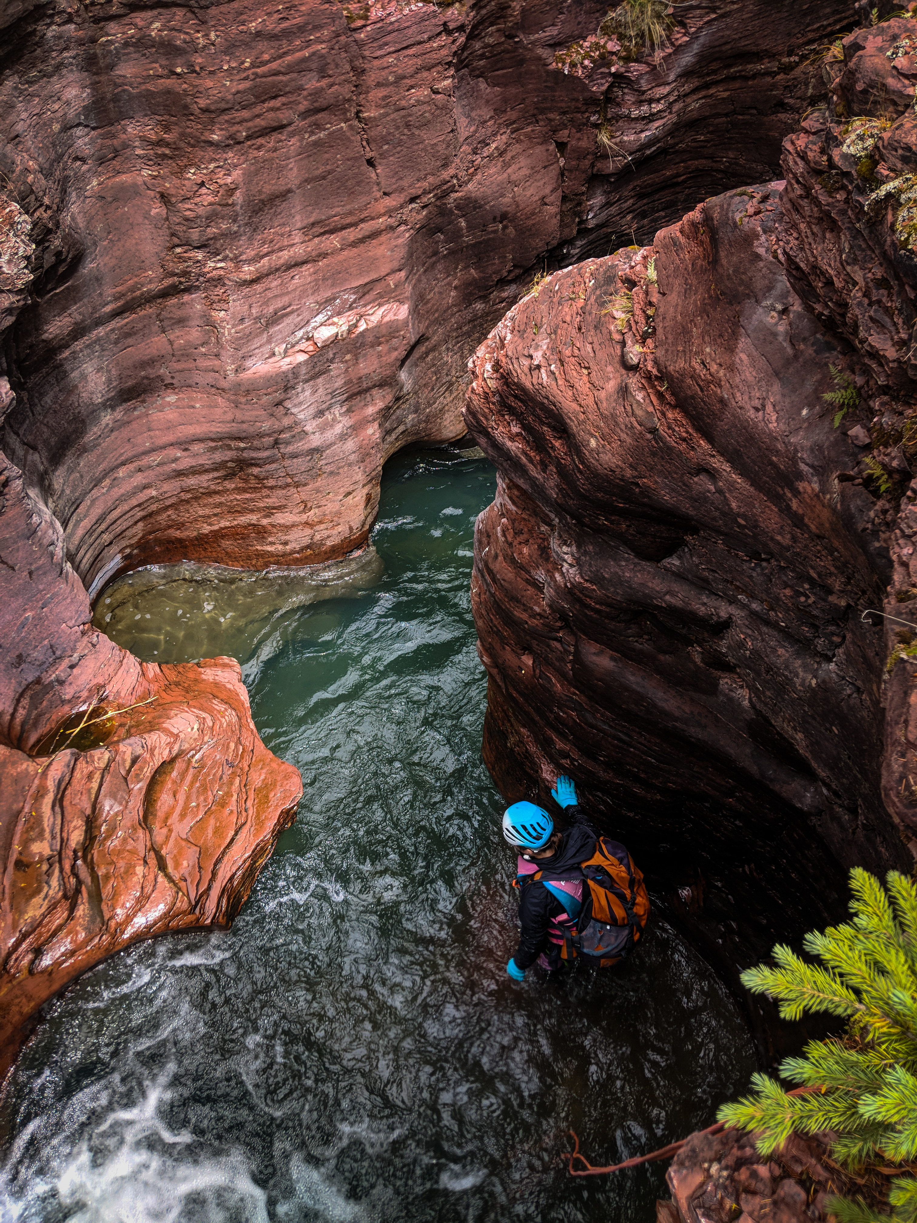 Beautiful narrows in Mineral Creek.