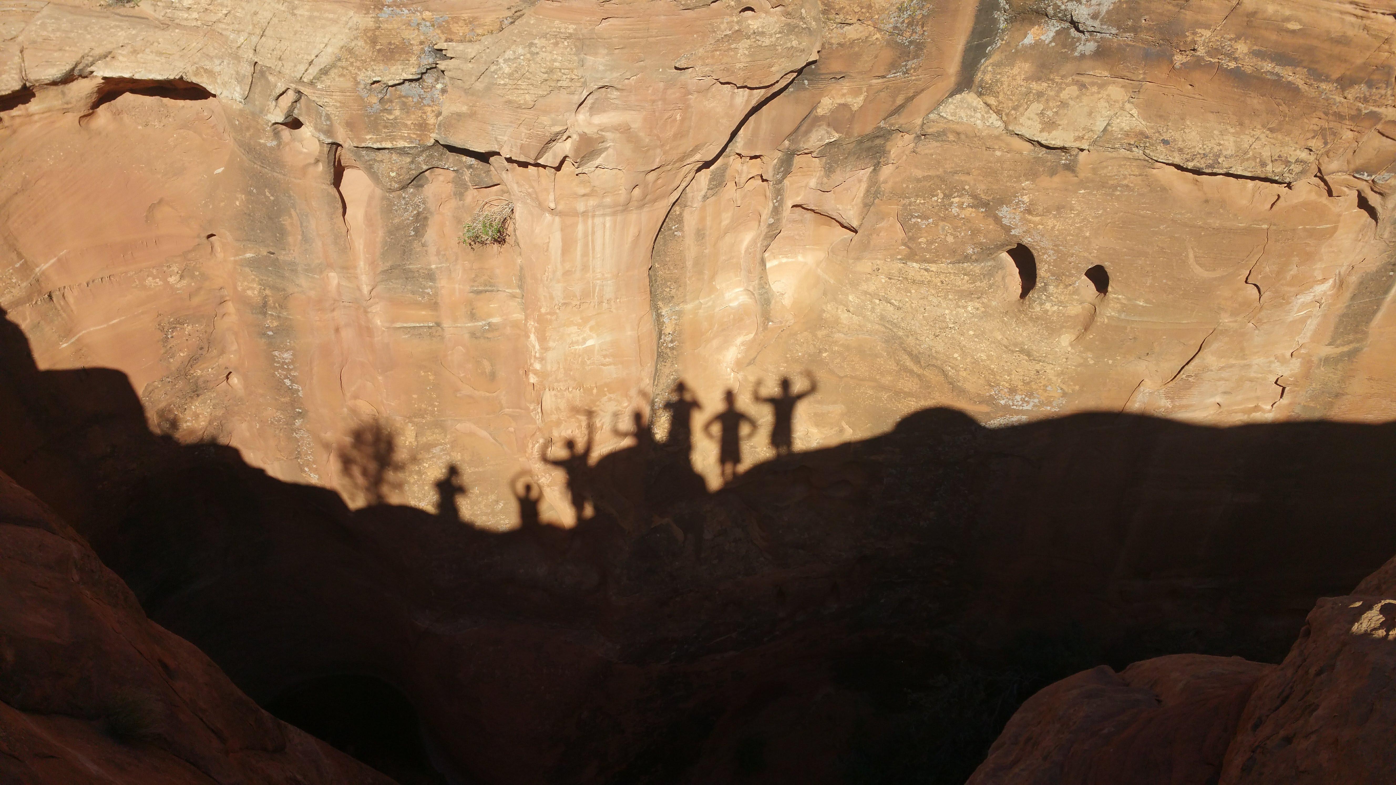 shadows on canyon.